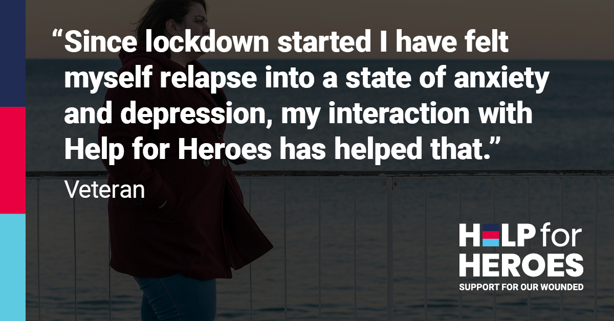 We experienced a surge in demand for our services during lockdown with a 33% increase in those coming forward for #mentalhealth support compared to last year.  If you are a wounded veteran looking for support, get in touch with us 👇  https://t.co/iXy31Mg48J  #StrongerTogether https://t.co/83lRecZPai