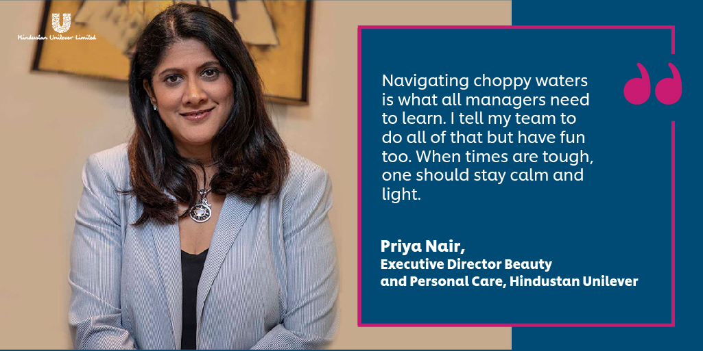 From leading our INR 100 Cr commitment against #COVID19, to keeping her team motivated and agile, Priya Nair has had a consistently inspiring and positive impact in these turbulent times. Read her feature in @BT_India https://t.co/1ORJjuNSnd #PeopleWithPurpose #BrandsWithPurpose https://t.co/AABLsnsW6w