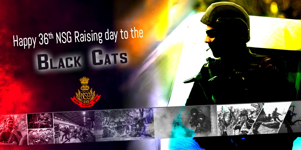 Greetings to @nsgblackcats personnel and their families on the 36th NSG Raising Day. We wish the Black Cats continued glory and success.
