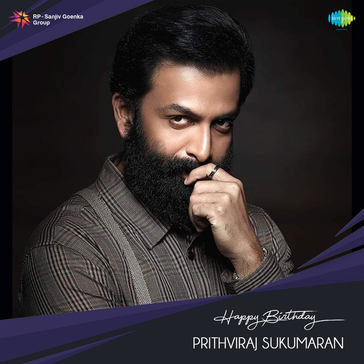 Birthday wishes to the versatile actor @PrithviOfficial   #SaregamaWishes #HBDPrithviraj #HappyBirthdayPrithviraj https://t.co/EEe5R0IPvy