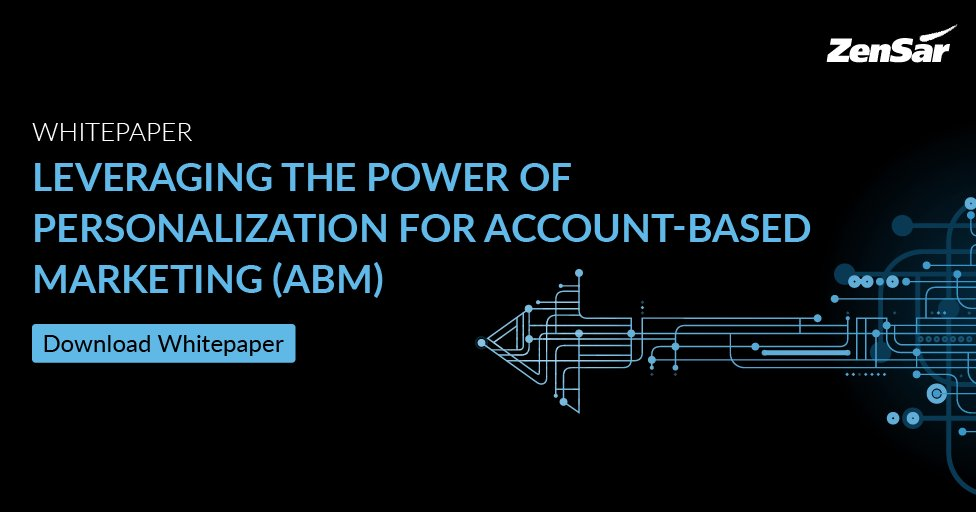Read this insightful whitepaper authored by  @vishal_machewad to learn how global brands can leverage the power of personalization for #ABM. Click here: https://t.co/r8ynlMmlo9  #Marketing #ABMStrategies #Hitech #HTMatZensar #HTM https://t.co/xyV4t6FNm6