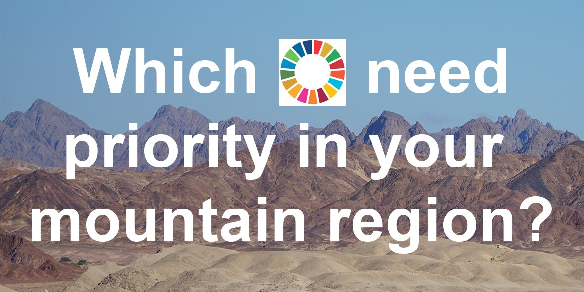 Do you live or work in mountains and work on regional or sustainable development? If so, we would be delighted if you could participate in our survey by the 15th of December: https://t.co/q5phzexHK5  #SDGs #mountains https://t.co/0sx820ZqqG