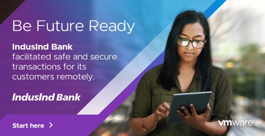 To support India's vision for a cashless economy, a leading bank has given its employees secure, remote access to apps so they can create the best digital services.  Be like IndusInd Bank. Secure your future with VMware today: https://t.co/BBvp3QDdQU  #VMwareFutureReady https://t.co/eSrrn8yMOJ