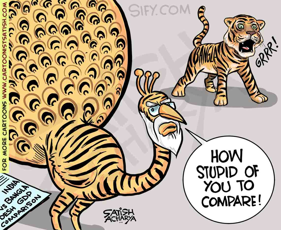 When IMF said Bangladesh would overtake India. @sifydotcom cartoon #bangladeshgdp