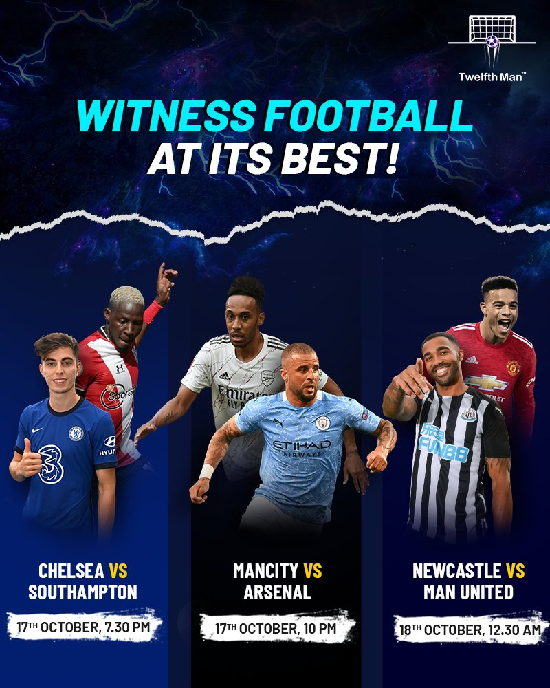 Football of the finest quality continues as the Premier League advances. 🔥 Some of the big clubs in action tomorrow. 🤩 Create your best-ever fantasy squads to reap amazing rewards on every showdown.  Download the app now!  Link: https://t.co/SkCXf69gQE  #CHESOU #MCIARS #NEWMUN https://t.co/H5YBKo9rBV