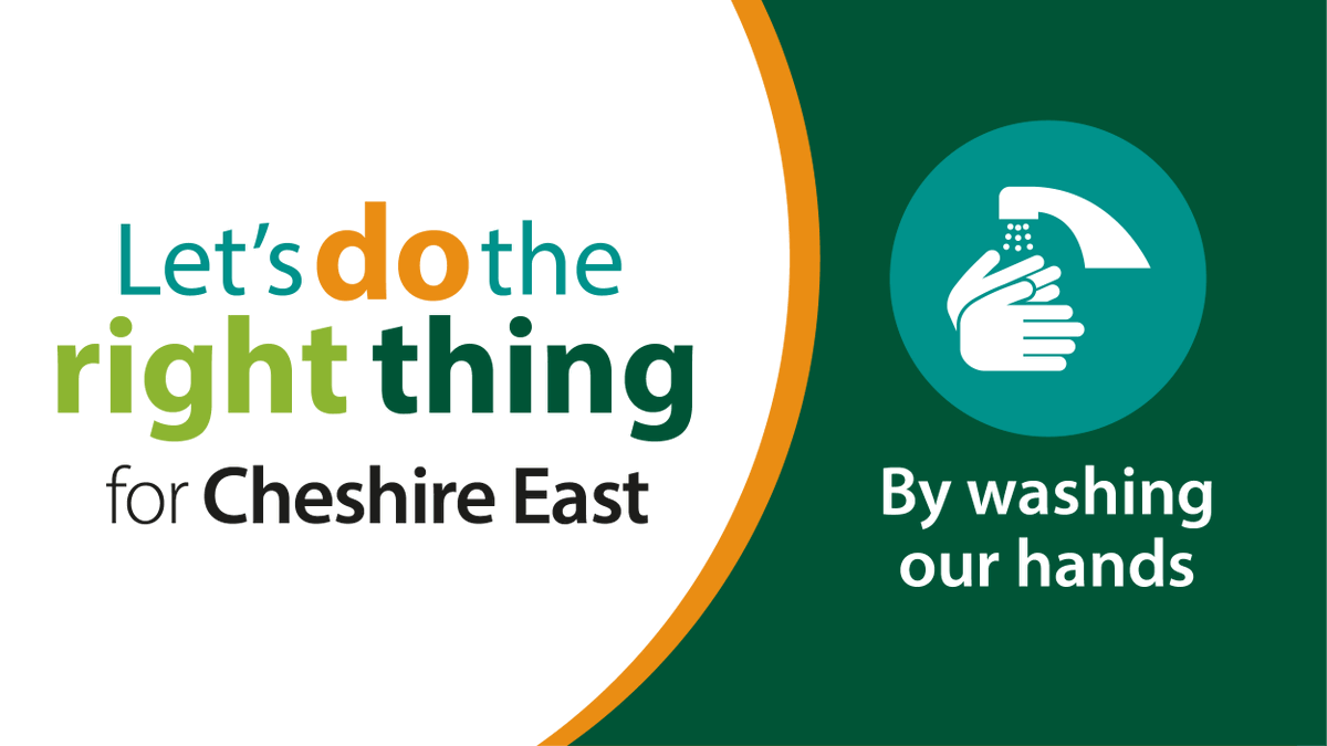 Let's do the right thing for #CheshireEast by continuing to wash and sanitise our hands properly to protect each other against Covid-19. Washing your hands properly removes dirt, viruses & bacteria to stop them spreading to other people and objects. Visit https://t.co/0WQ2Oza9Uq https://t.co/N4zqDqqPiP