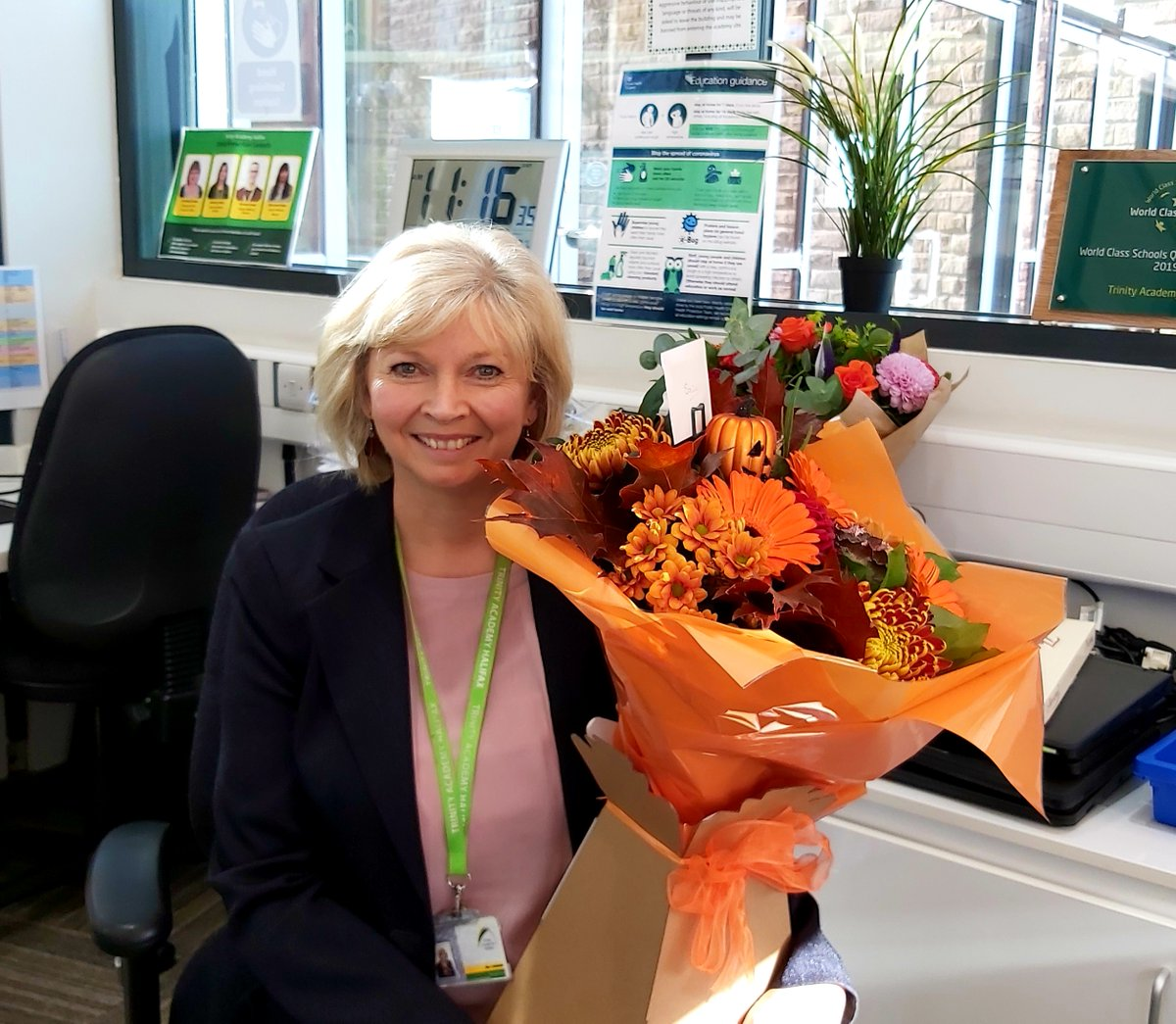 We would like to wish our Receptionist Mrs Baldwin a very happy retirement after 17 years service, we hope that this next chapter of her life brings endless time to do the things she enjoys! She will be missed by everyone at the academy!💐❤️