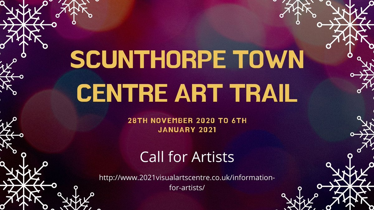 Want to show your artwork in an art trail through Scunthorpe? We're looking for artists to propose work that can be printed or laser cut, for use in a festive art trail. Deadline for proposals is 5pm on 26 October. Details for how to get involved at https://t.co/9tNMwHWEer https://t.co/p5GFPaYAzk