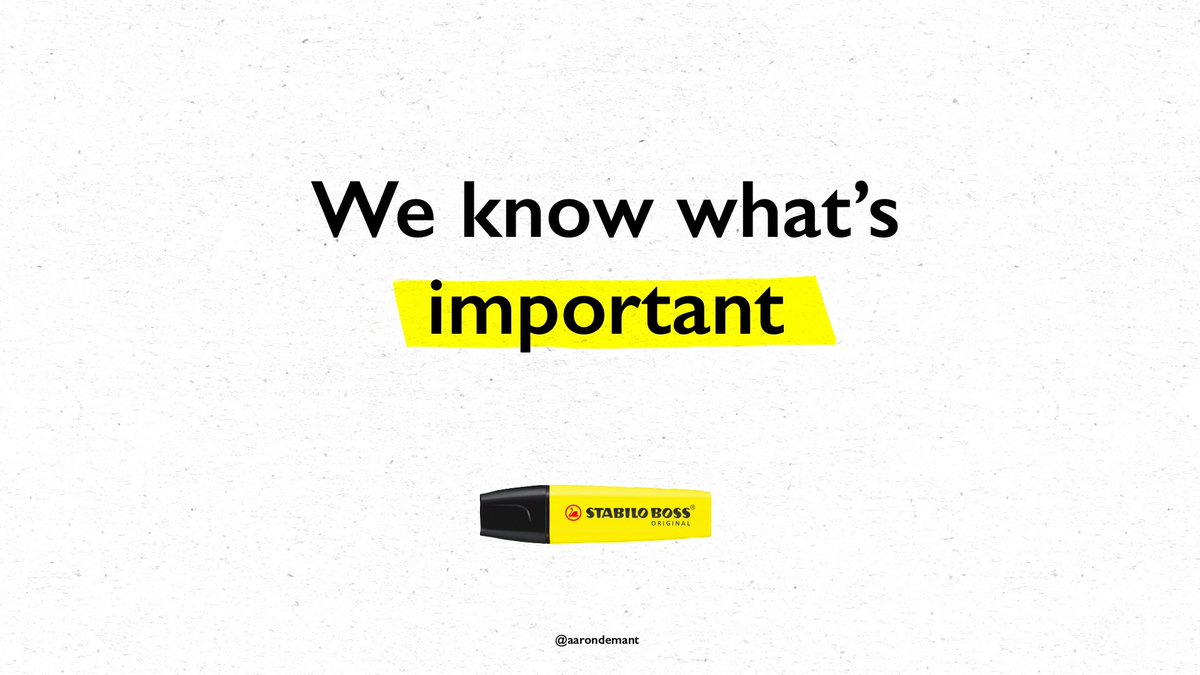 We know what's important @OneMinuteBriefs @STABILOUK #SellMeThisPen #Advert #Advertising #pens #creative #friday #FridayFeeling