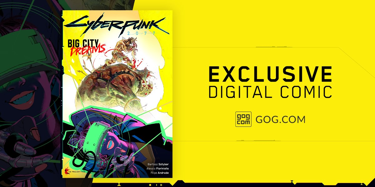 Night City welcomes us on Nov 19, and our offer becomes even better 🦾  We're excited to reveal the exclusive digital comic, #Cyberpunk2077: Big City Dreams, available for everyone who buys the game on https://t.co/TiMFdAcy7Z!  Pre-order @cyberpunkgame 👉 https://t.co/pARK9srDgO https://t.co/qwcGt4Wg8W