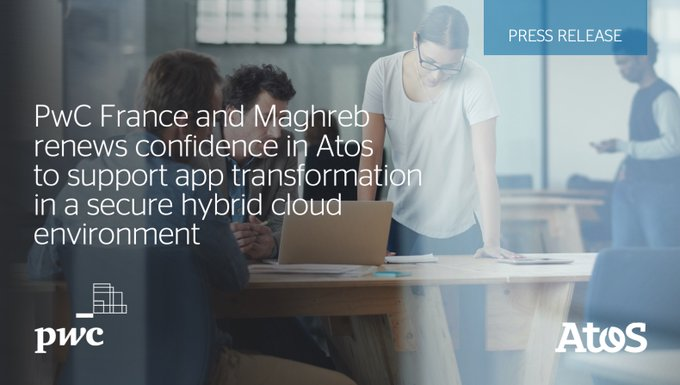 Atos announces the renewal of its contract with PwC France and Maghreb to manage...