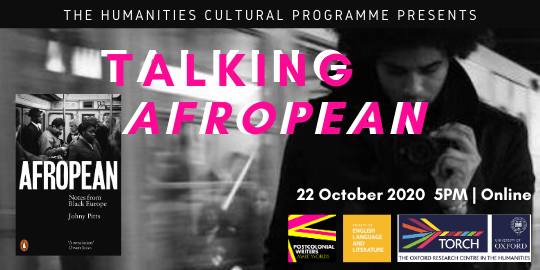 TALKING AFROPEAN  This week's Big Tent - Live Event! will explore what it is to be black in Europe today as author of 'Afropean' @johnypitts discusses his book with @ellekeboehmer and @SimuChigudu  Thurs 22 Oct   5pm   Online - YouTube  Watch here: https://t.co/AdyMHUy4F3 https://t.co/OAg9T6IDaD