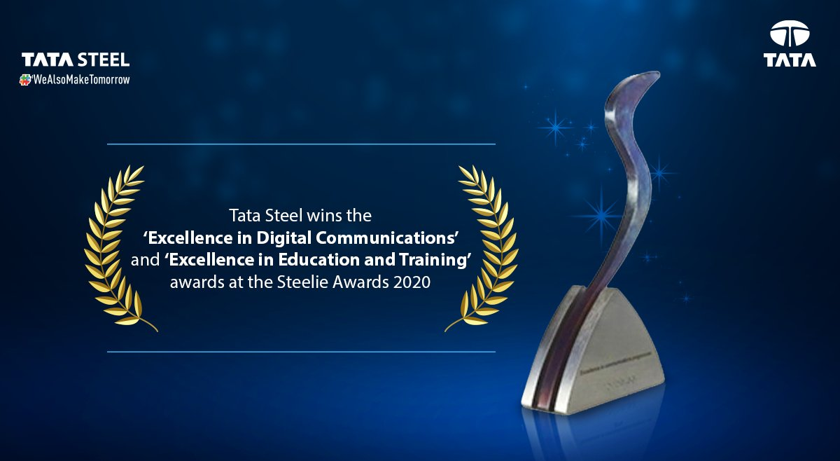 We are proud to win 2 awards at the @worldsteel Steelie Awards 2020. The recognition is a testament to our efforts in embracing the digital age.  #TataSteel #WeAlsoMakeTomorrow #Awards https://t.co/Vjscbz5ATM