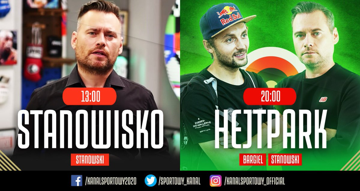 Piątek należy do @K_Stanowski 😎  Zaczynamy od Stanowiska, a o 20:00 Hejt Park z @JedrekBargiel 💪 https://t.co/guVYl7nb9y