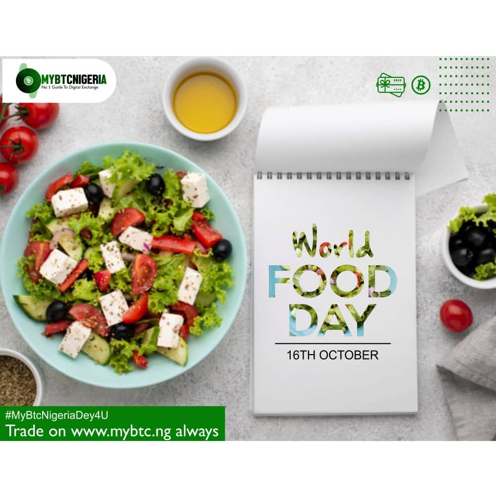 In everything you do, make sure youre feeding well, make dem no talk say after all the Hustle na Hunger kill am. #WorldFoodDay #MyBtcNigeriaDey4U Our Referral promo is still on (Refer someone to trade on MYBTC.NG and earn 1000 naira) MYBTC.NG 😉