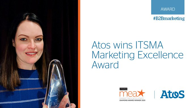 We're delighted to be awarded an @ITSMA_B2B Marketing Excellence Award.The award