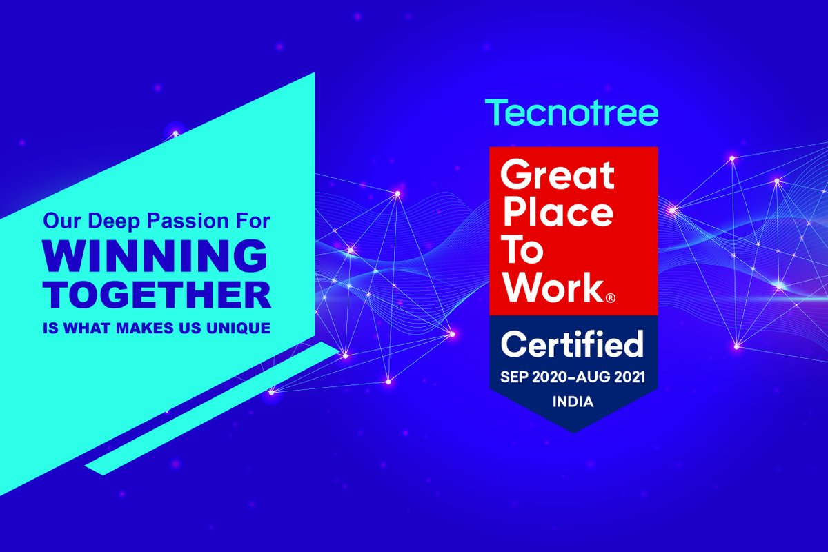 We are recognized as a Great Place To Work by @GPTW_India. It is the spirit of One-Tecnotree that propels us to care 4 our people & win together. Check-out open positions - https://t.co/KbiLwcfxYm  #greatplacetowork #onetecnotree https://t.co/nfz2wHMaZk