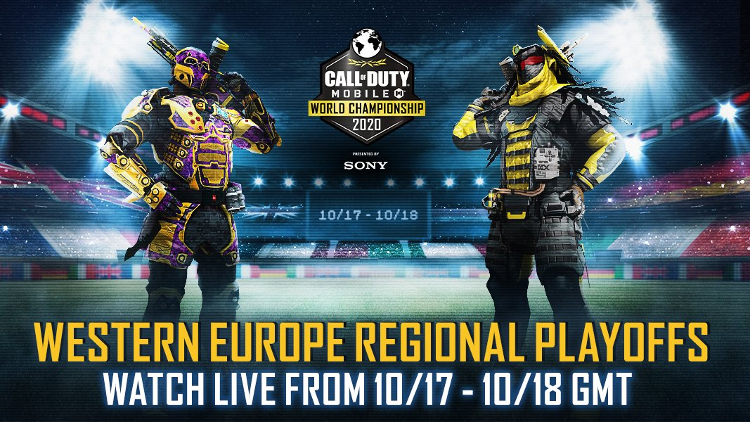 Check out the best teams compete in the #CODMobile World Championship 2020 for Western Europe this weekend! Action takes place 7:30am ET/12:30pm BST at https://t.co/qjl3oxuAl9  (➡ @SonyXperiaUS) https://t.co/jMpJm1G2rz