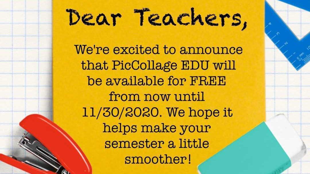 Hey #teachers! PicCollage EDU is FREE until 11/30/2020! 🥰Download it now: apps.apple.com/us/app/piccoll…