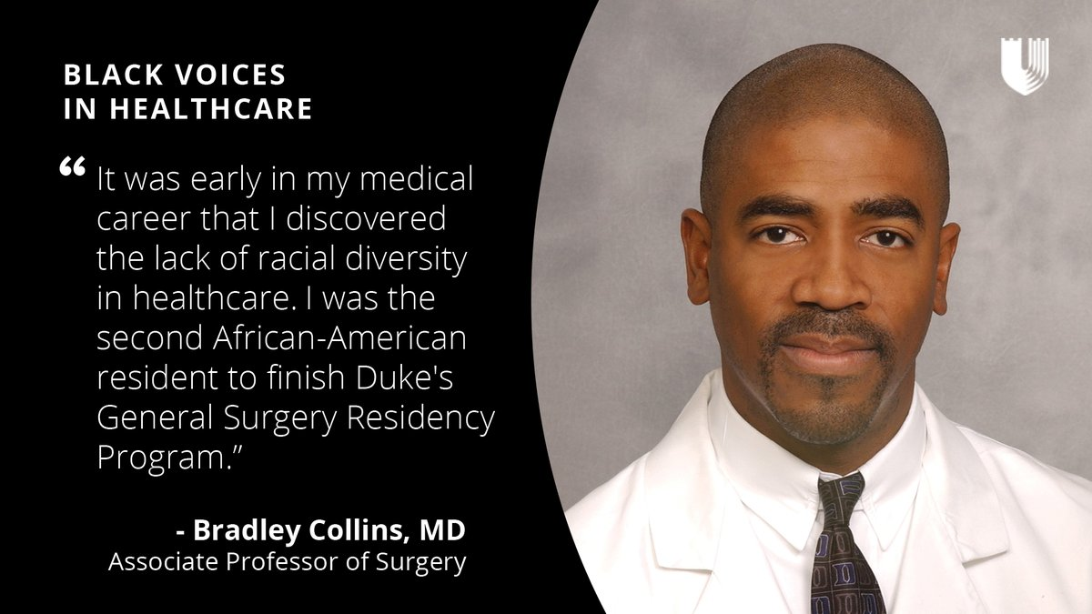5/ #BlackVoices: Bradley Collins, MD, Senior Faculty Member  How has the lack of racial diversity in surgery impact your personal and professional experience? #BlackMedTwitter #BlackMenInMedicine  [Thread End]  https://t.co/TYNpTrKWIz https://t.co/R7BKZ2dWZv