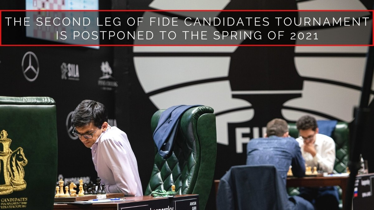 Unfortunately, FIDE is forced to postpone the resumption of the Candidates Tournament until the spring of 2021. ⠀ Announcement:  ⠀ #FIDECandidates #FIDE #chess