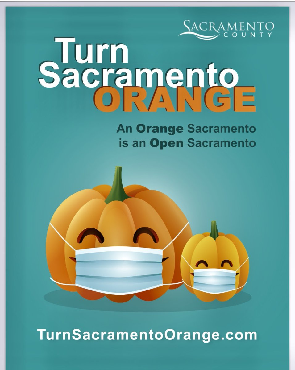 TGIF! As you enjoy your weekend we wanted to remind everyone of the message above from @SacCountyCA . Let's all do our part and help turn Sacramento orange! #CRPD #SacCounty #GoOrange #doyourpart #staysafe #recreateresponsibly #carmichael #community https://t.co/2j9a0w1tXW