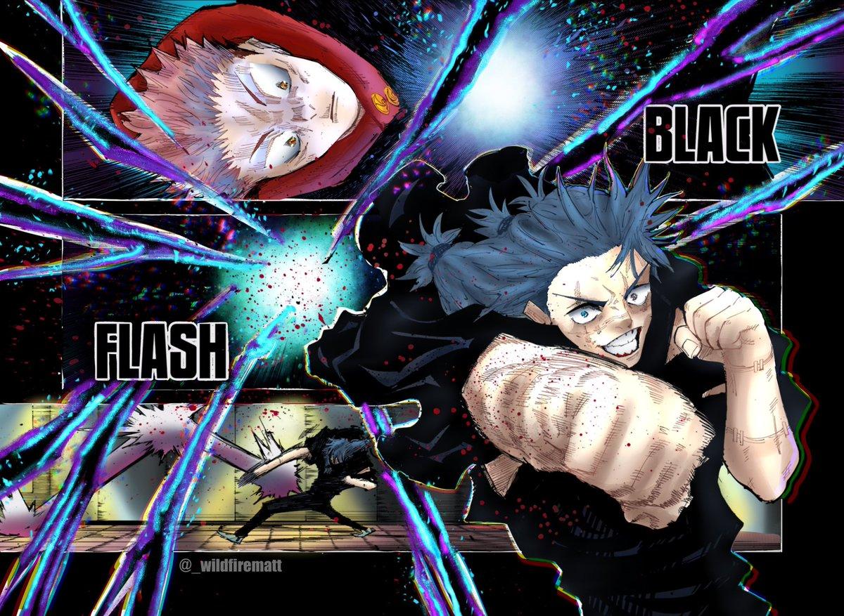 Wildfire Commissions Open On Twitter Jujutsu Kaisen Black Flash Manga Coloring 呪術廻戦 Jujutsukaisen Jjk126 Mahito