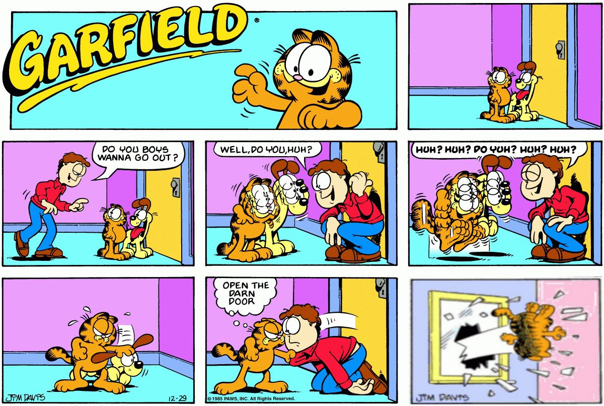 Garfield Thrown Out The Window On Twitter
