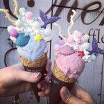 【カフェチェリッシュ×人魚の島のカラフルアイスクリーム】これを食べると人魚になれちゃう?!「人魚の島のカラフルアイスクリーム」