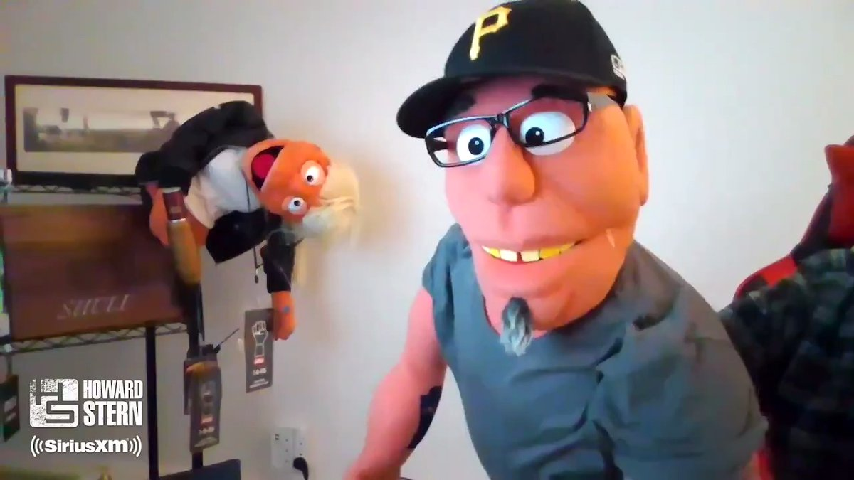 The #HighPitchErik puppet makes its #SternShow debut and the resemblance is uncanny.