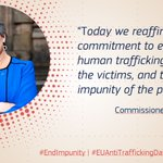 Image for the Tweet beginning: On the 14th EU Anti-Trafficking