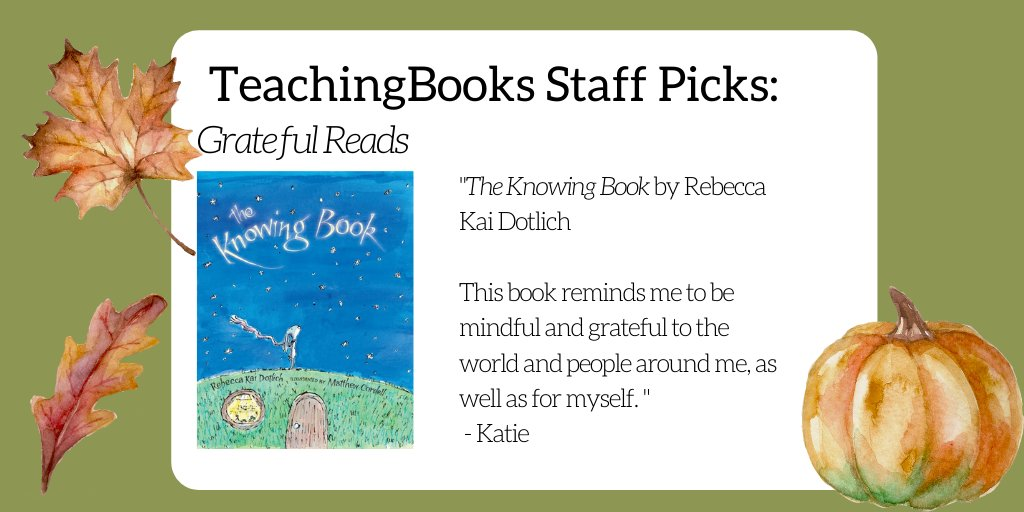 test Twitter Media - In this time of harvest and celebration,  we asked TeachingBooks staff to share a book that reminds them to feel thankful or makes them feel grateful.  Select the link to learn more about the title. https://t.co/K8ZNDsCYeG Boyds Mills Press https://t.co/cYhIoytSMZ