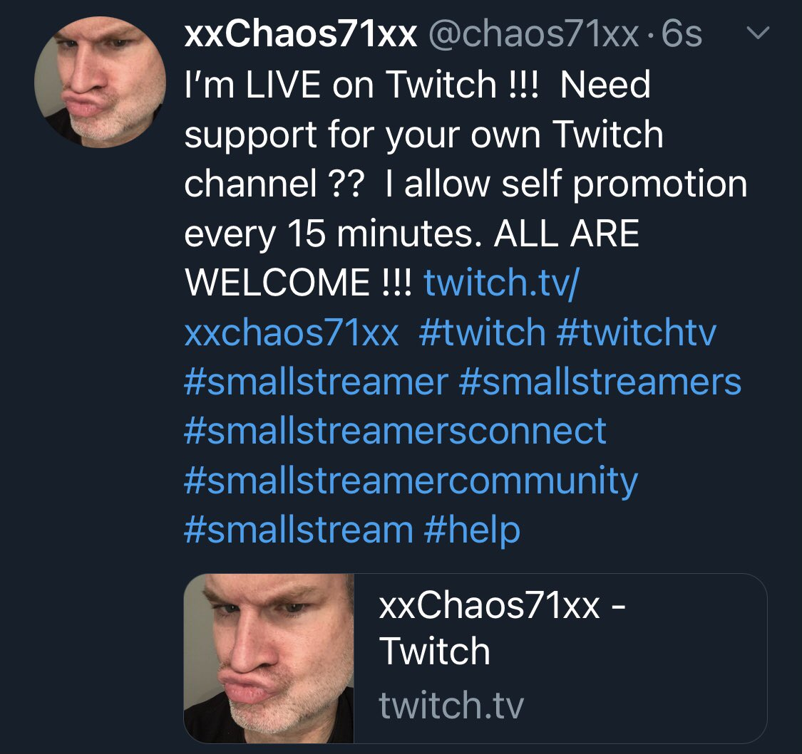 #twitch #twitchtv #smallstreamer #smallstreamers #smallstreamersconnect #smallstreamercommunity  #smallstream #smallstreamersttv #smallstreamer #smallstreamersupport #smallstreams #supportsmallstreamers #supportsmall #supportsmallstreams #support #helping #supportingothers #help https://t.co/HvdWv1f97O