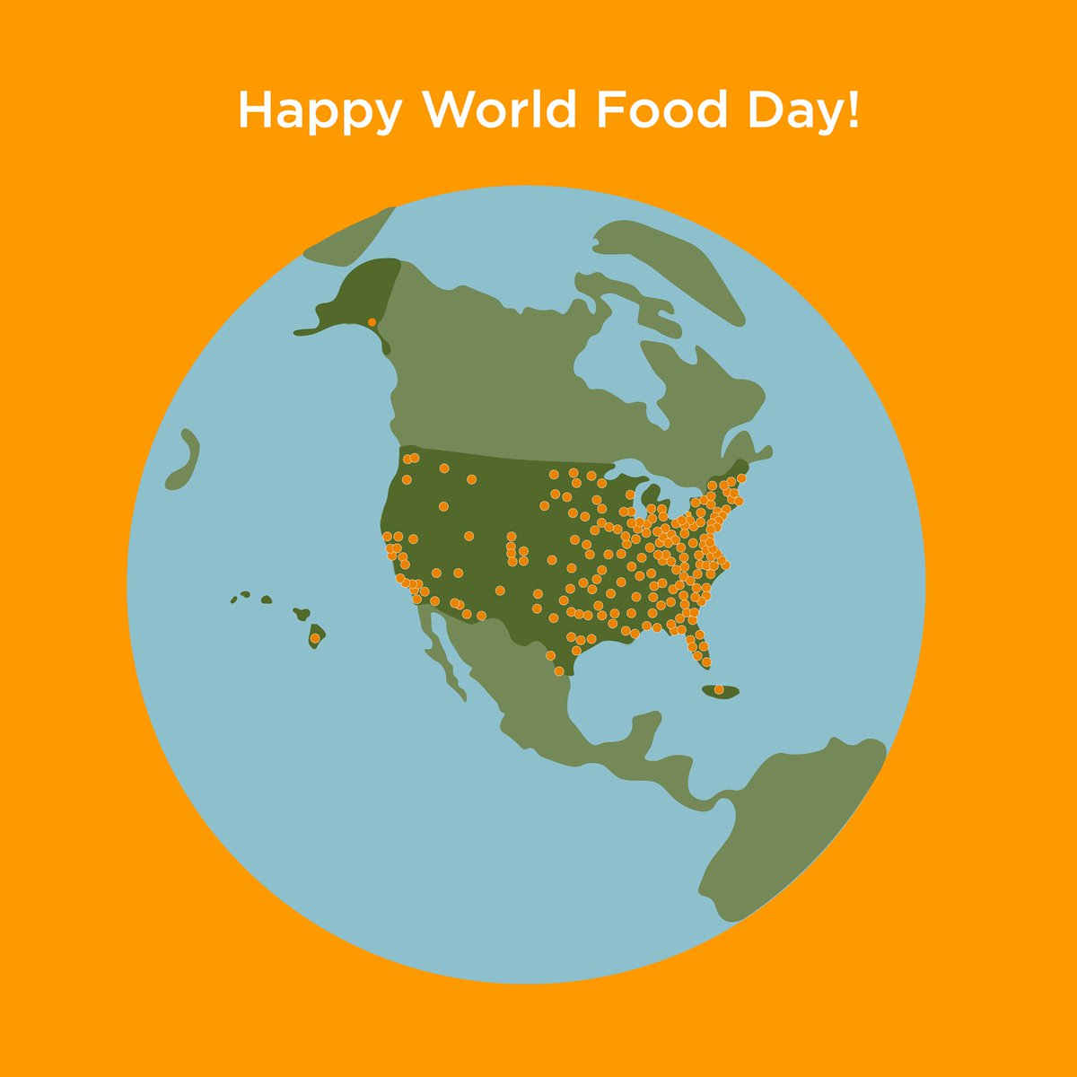 It's #WorldFoodDay! Today we celebrate the food banks across the country who share the gift of food with our neighbors every day. https://t.co/7aD23uG1k7