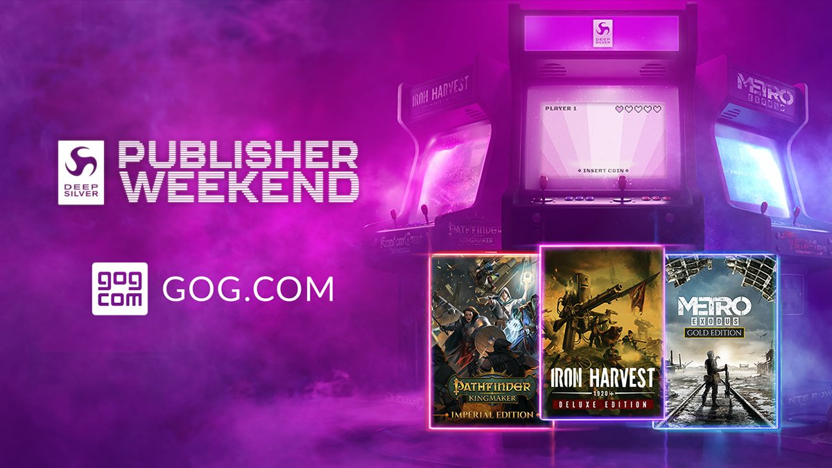 This weekend is filled with amazing titles from @deepsilver! 🤩  ▪️ Metro Franchise Bundle –30% ▪️ Pathfinder: Kingmaker up to –40% ▪️ Red Faction series up to–80% ▪️ Relicta–25%  More up to –80% 👉 https://t.co/7BfG9w2p7G https://t.co/NaeJm6Ldru