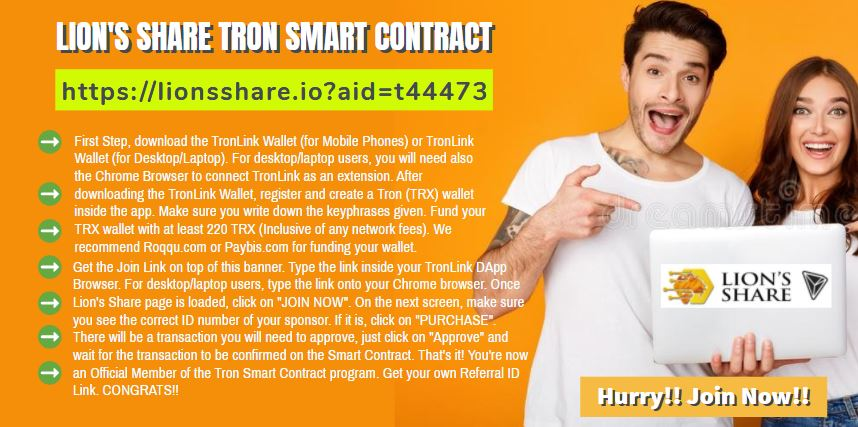 🚪👋 *WELCOME ID# T44473! CONGRATS ON YOUR DECISION TO JOIN OUR TEAM!* Here's your Promotional Banner for your future invites. 👍🌎👊  Join us on #Whatsapp for our Daily #Whatsapp Presentation!  https://t.co/yk8BeT5Axw  #lionsshare #forsage #tron #trx #eth #crypto #btc #lionshare https://t.co/3A5cUDXPCA