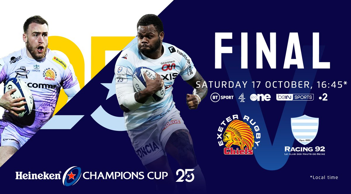 Champions Cup final:Exeter Chiefs v Racing 92 live Online  Click Here:https://t.co/cakbYAueXx  Click Here:https://t.co/cakbYAueXx https://t.co/I1PF8dHPzw