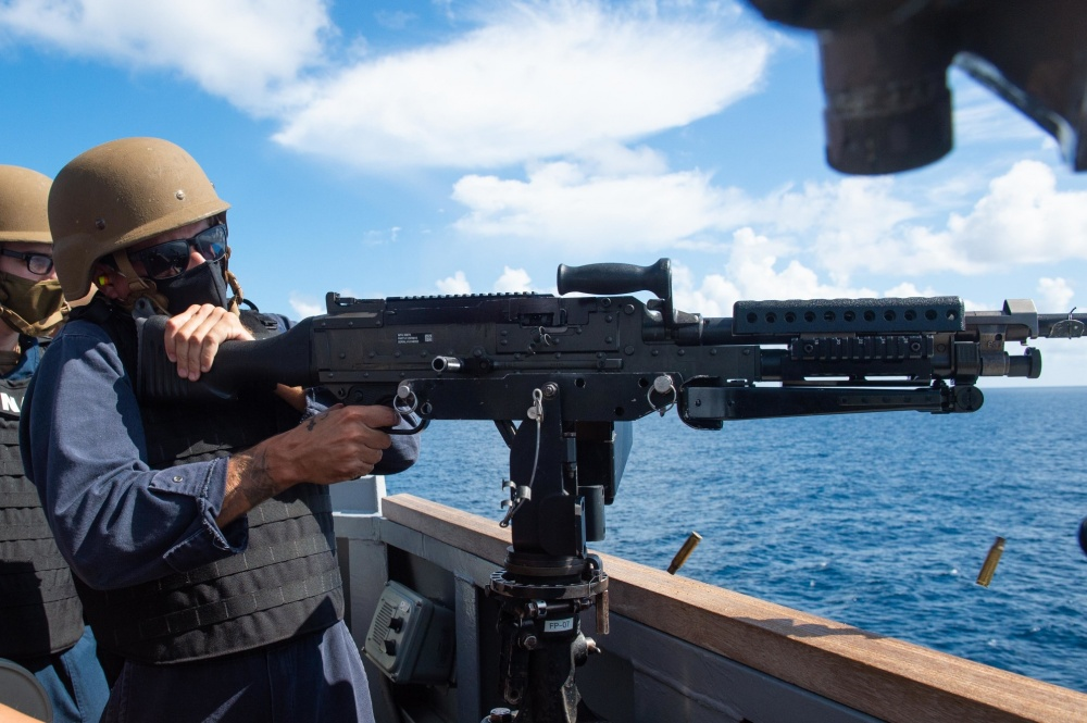 Aim small, miss small. 💪 @USNavy Sailors aboard #USSWilliamPLawrence conduct a small caliber action team exercise while deployed to the U.S. 4th Fleet area of operations to support @jiatfs mission, which includes counter illicit drug trafficking in the Caribbean and E. Pacific
