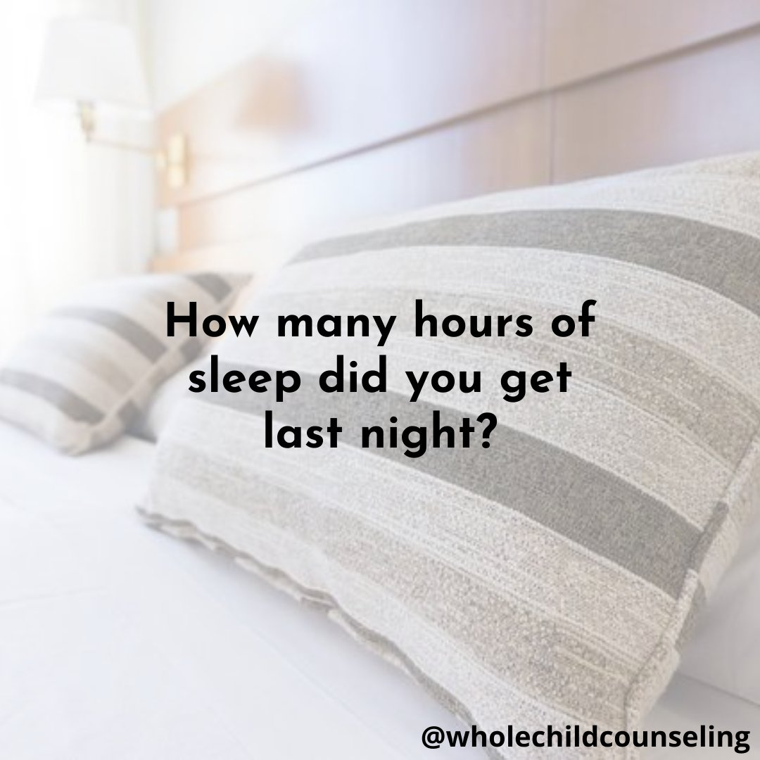How many hours of sleep did you get last night?