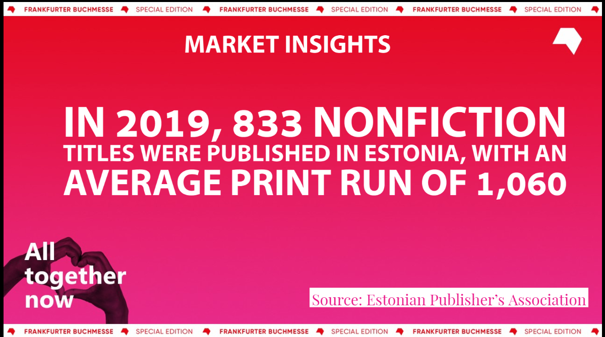 In 2019, nonfiction publishing was solid in Estonia, according to the Estonian Publishers Association. Discover more market data in The Market Insights Series, an initiative created to expand knowledge of book markets. Visit: buchmesse.de/en/highlights/… #marketinsights #fbm20