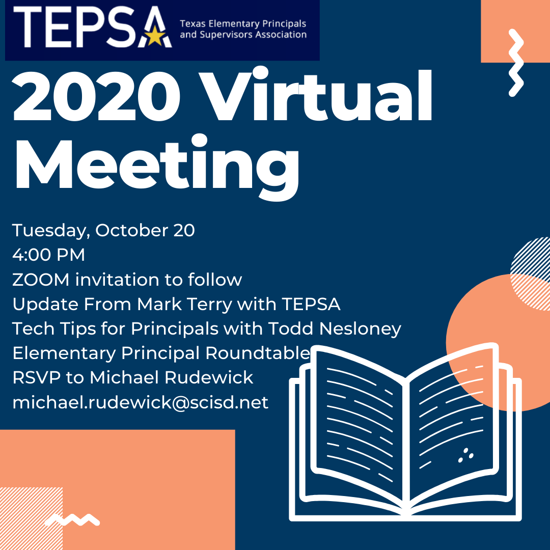 Are you in Region 15? Join our FREE TEPSA Region Meeting!! RSVP via the email in the image! #WeLeadTX #TXed