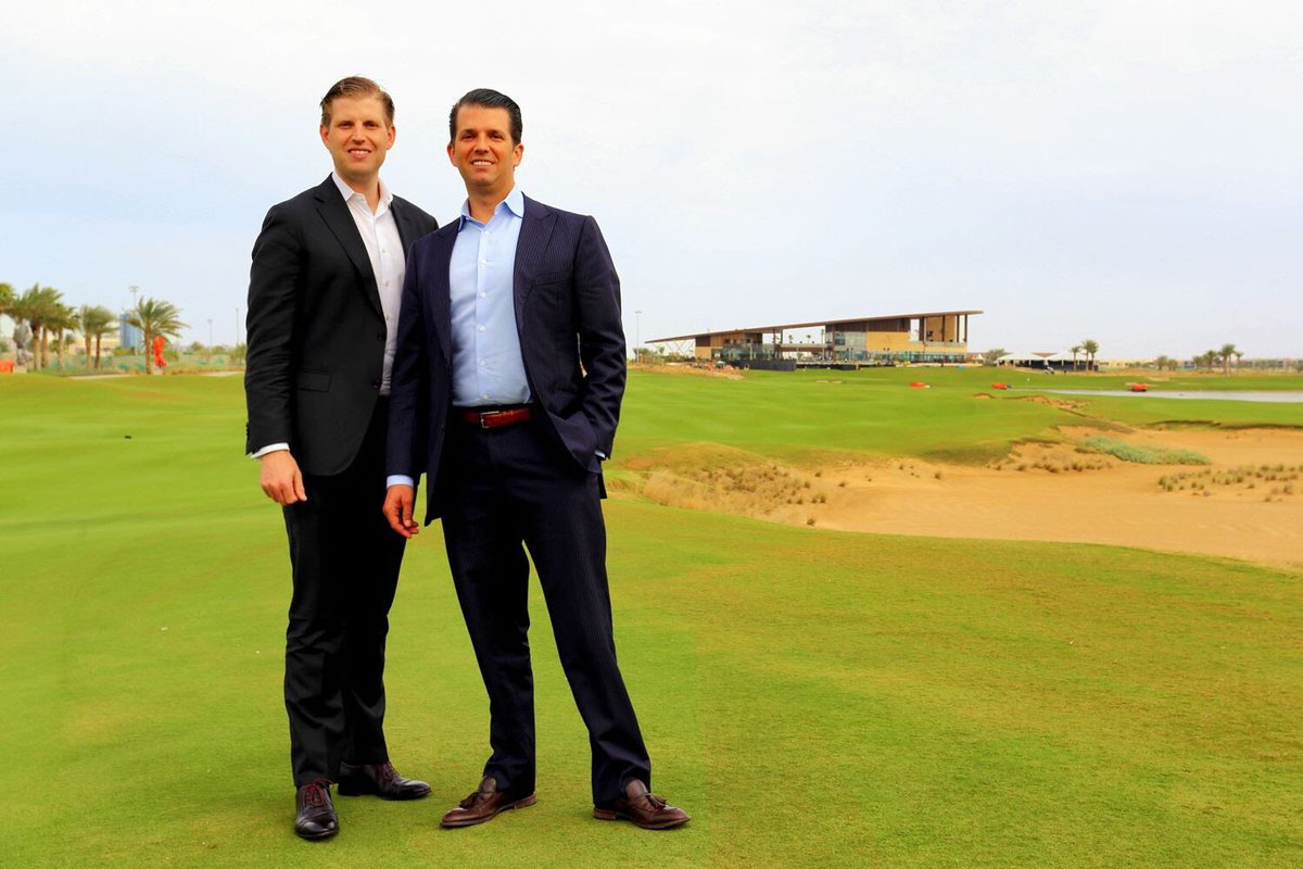Happy #NationalBossDay to the leaders of our Trump Golf family, @EricTrump and @DonaldJTrumpJr!