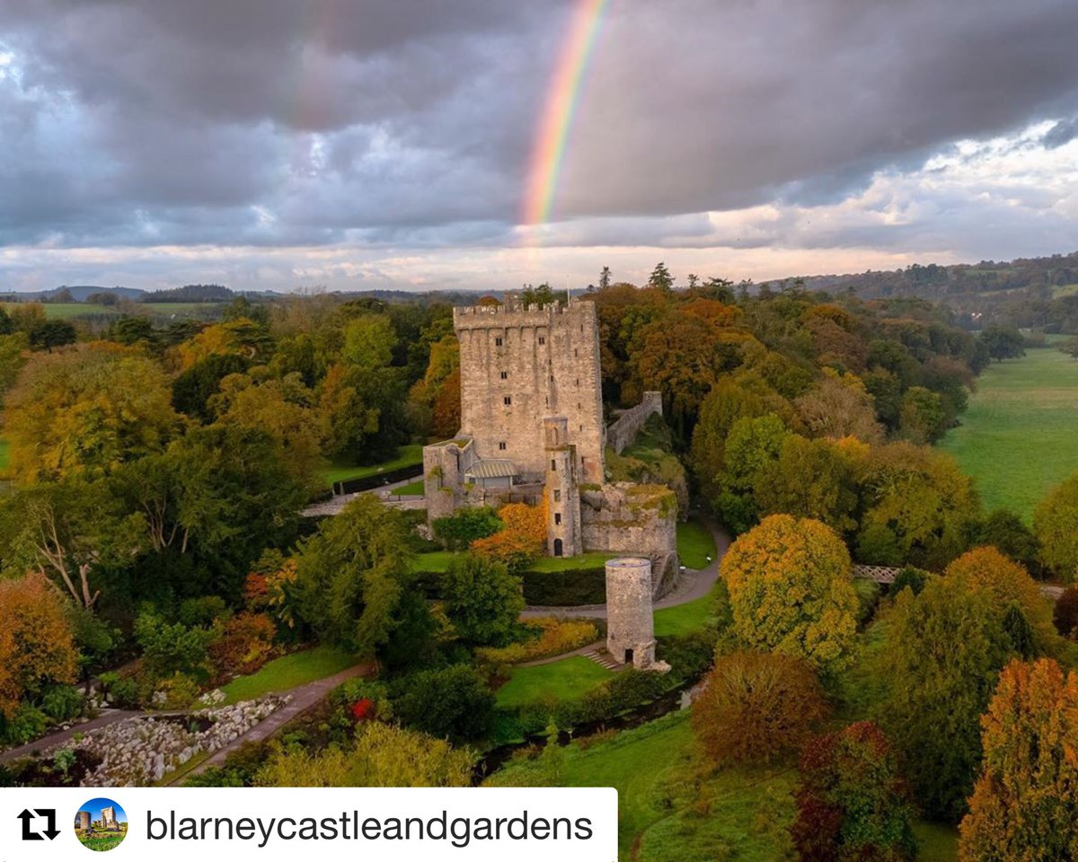#Repost @Blarney_Castle  ・・・ Somewhere over the rainbow.... have a great weekend and hope to see you in the gardens very soon!  @IAAT_ie @TourismIreland  . #rainbow #purecorkwelcomes #makeabreakforit #cork #ireland #blarney #castles #walks #weekend #like #pictureoftheday https://t.co/YKZf6yyhQB