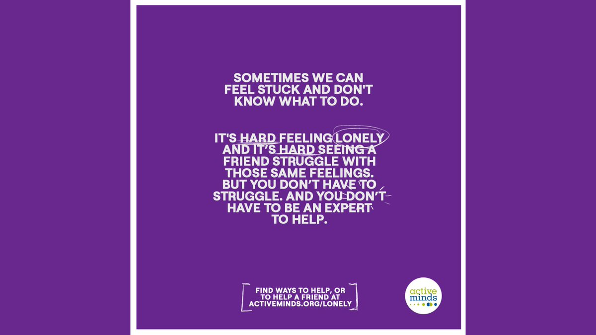 Sometimes we can feel stuck and don't know what to do. But help is available and you don't have to suffer in silence. If you're feeling Lonely or know someone who is struggling, you can find resources and more at https://t.co/s7MrUjLajo  #Lonely https://t.co/MEMQWQxDdR