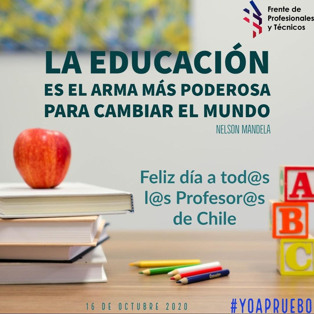 Un cariñoso saludo a todas y todos los profesores, quienes forman y educan día a día a las futuras generaciones. !Feliz día del Profesor y Profesora! https://t.co/TzfuYEBloS