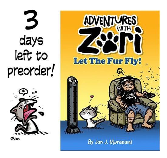 """•3 MORE DAYS TO PREORDER THE ADVENTURES WITH ZORI BOOK! (Til 10/19/20)   •THE 3x3"""" Zori vinyl sticker WILL ONLY AVAILABLE to those who PREORDER the book & if we hit 150 ORDERS (we're at 130 now)  https://t.co/med85R3T90 https://t.co/1IPHM04F85"""