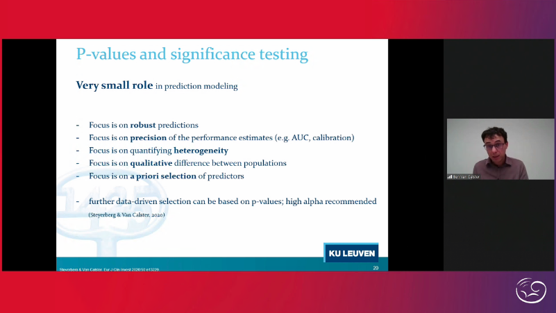 A plea for good methodology –the strengths and limitations of approaches to developing prediction models in #obsetrics and #gynecology presentation from B. Van Calster @BenVanCalster and discussion with chairs Tom Bourne @proftombourne & Jan Verbakel @jan_verbakel  #ISUOG2020 https://t.co/TEHno6wfli
