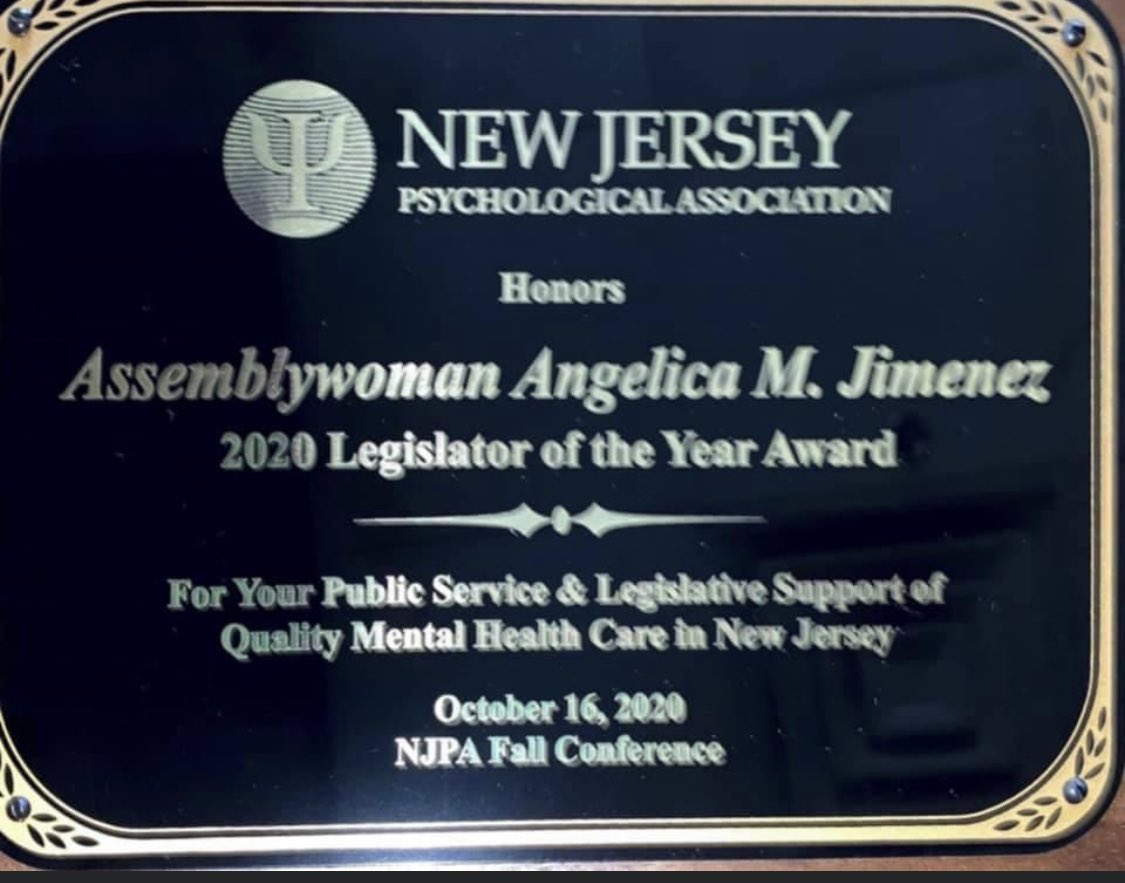 Thank you @aswangiemj for your work to promote mental health issues. Well deserved award from the @NJPsychAssn