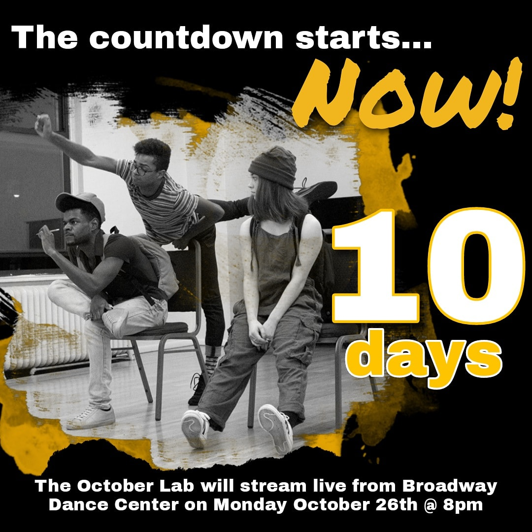 10 days until the final lab of the year!The New Technologies / Endless Possibilities Lab will be streamed live from Broadway Dance Center on the New York Theatre Barn YouTube channel ( @nytheatrebarn ) on October 26th at 8pm EDT.  📷 Michael Bonasio #choreographers #lastlabof2020 https://t.co/iJIdgEVxqE