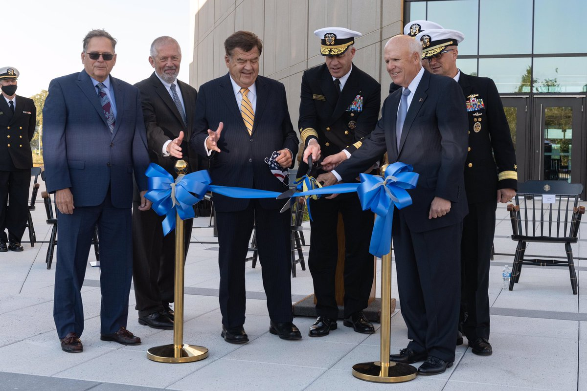 """It's official! #HopperHall is open for business! """"These facilities are critical to the success of our Cyber Studies curriculum and our ability to commission officers fluent in #cyber operations for the Fleet."""" - #USNA Superintendent Vice Admiral Sean Buck. #GraceHopper"""